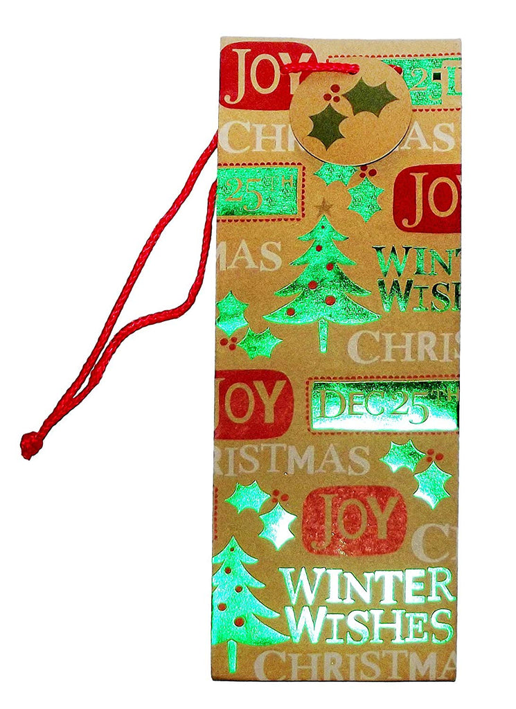 Kraft Contemporary Sayings Christmas Wine Gift Bag