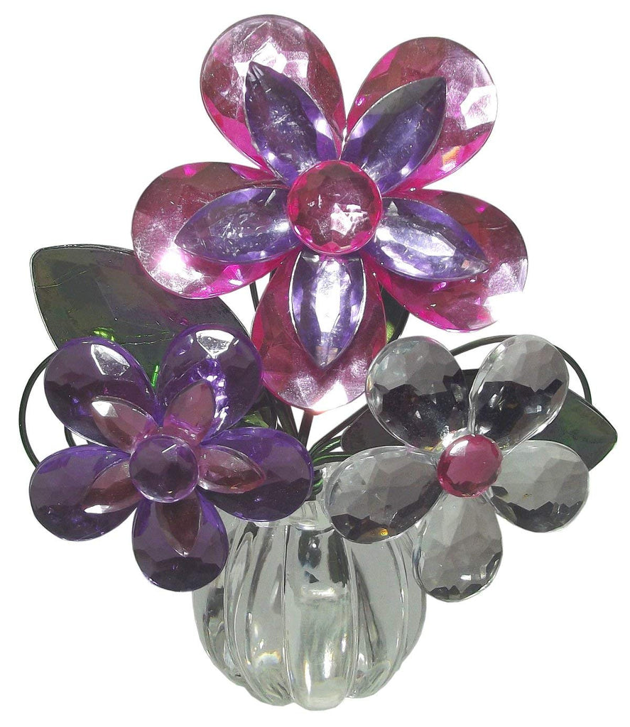 4.5 Inch Glass Posy Pot Home Décor Accents (PURPLE/PINK/CLEAR)