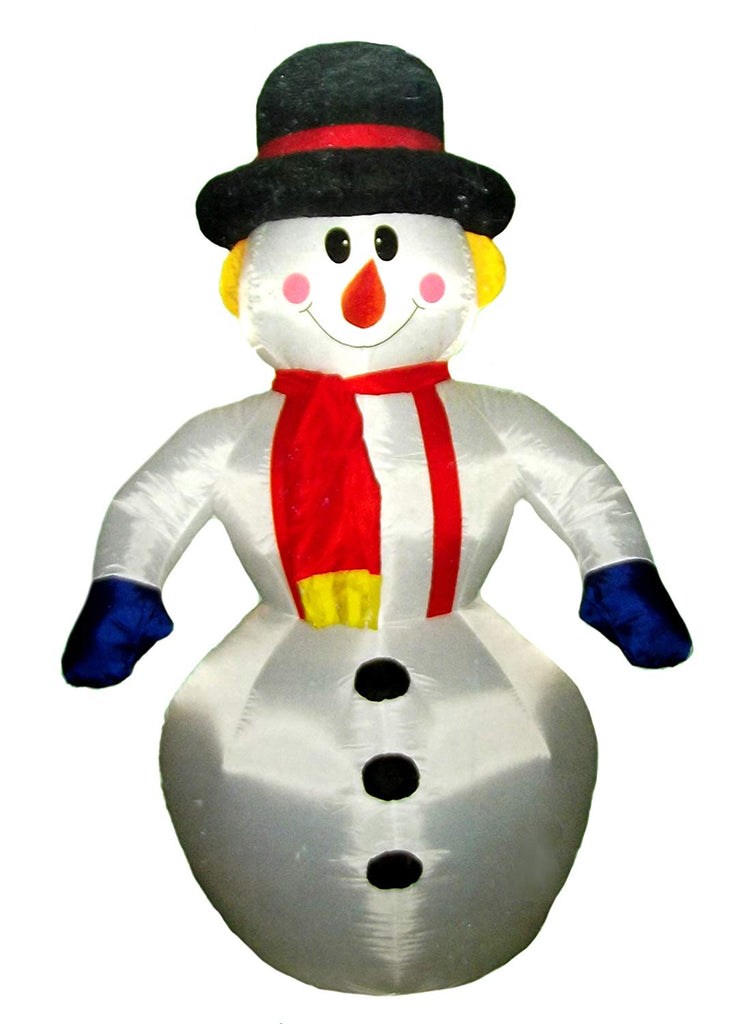 Santa's Boutique 4ft Self Inflating Illuminated Snowman