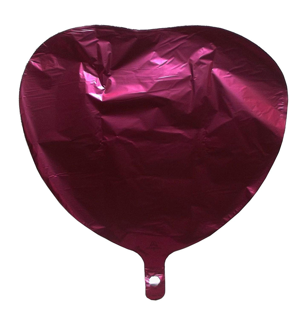 Anagram Satin Luxe Pomegranate Heart Foil Party Balloon, 17 inches