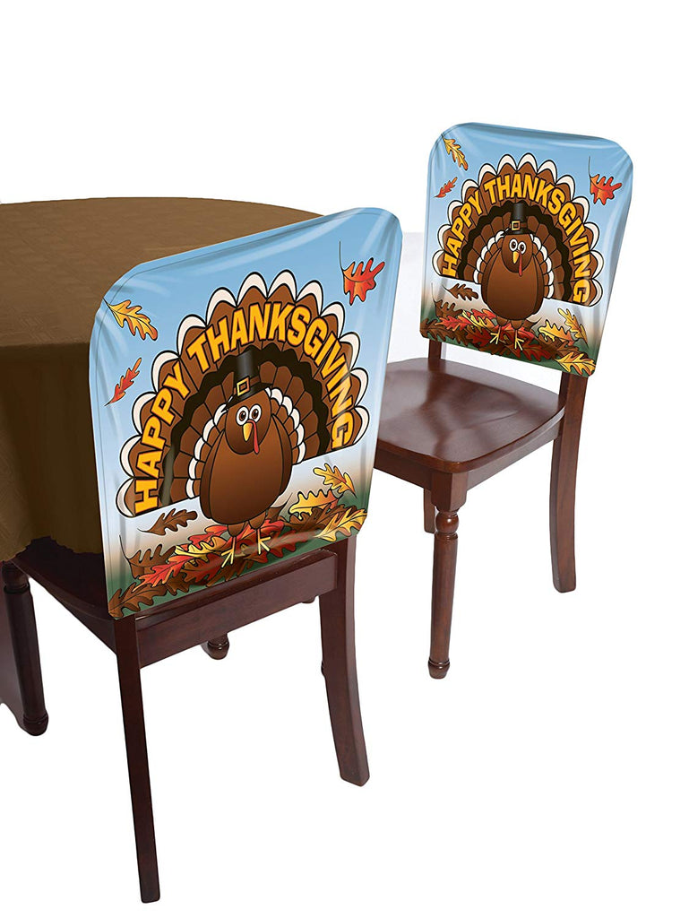 Forum Novelties Happy Thanksgiving Turkey Chair Cover