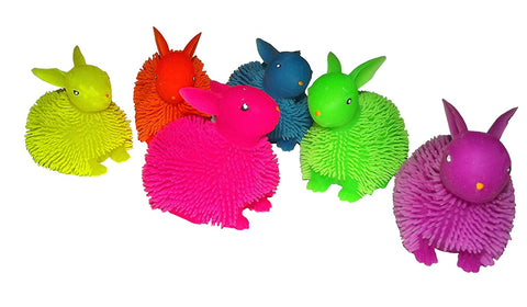 Squidgy Light Up Puff Pet Easter Bunny 1 Count, Assorted - Colors Vary