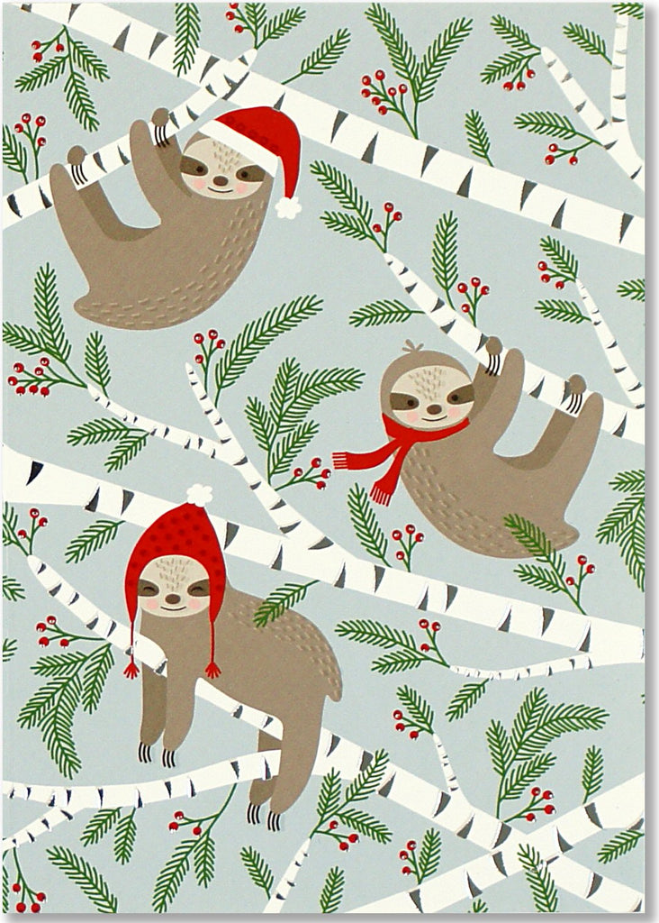 Merry Sloths Small Boxed Holiday Cards (Christmas Cards, Greeting Cards)