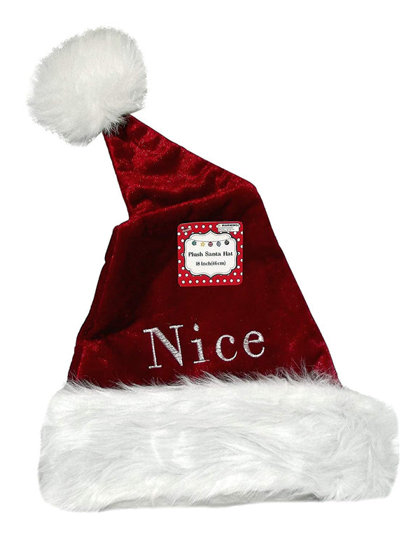 18-Inch Nice Embroidered Santa Hat