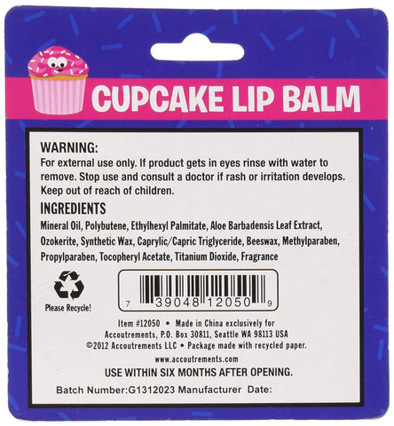Accoutrements Cupcake Lip Balm Frosting Dessert Flavored Scented Novelty Gift
