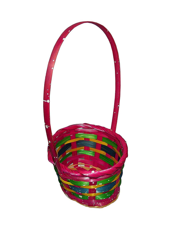 Springtime Small Easter Bamboo Basket (Includes 1; Styles Vary)