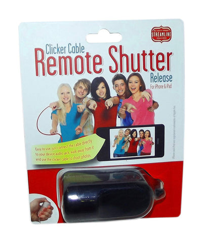 Streamline Clicker Cable Remote Shutter Release for iPhone & iPad (Includes 1; Styles vary)