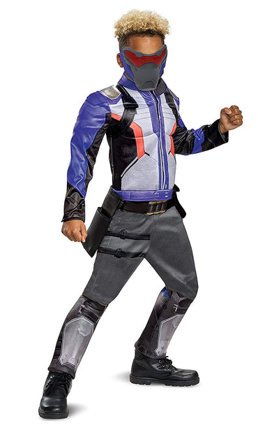 Disguise Overwatch Classic Soldier 76 Muscle Costume for Kids