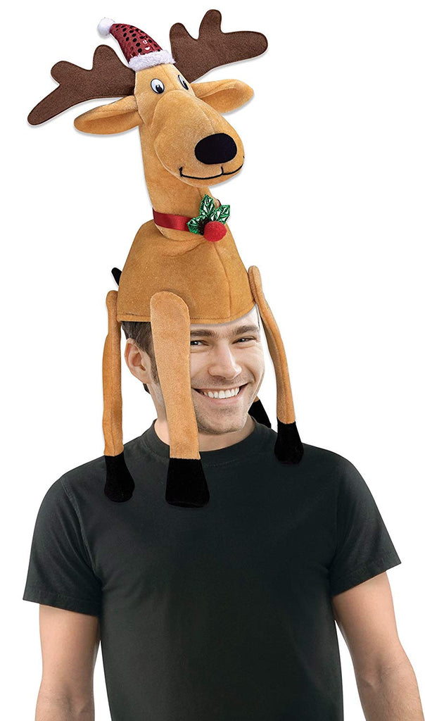 Forum Novelties Men's Novelty Reindeer Hat