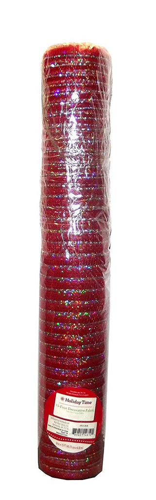 Holiday Time Christmas 15 foot Decorative Mesh Fabric Roll