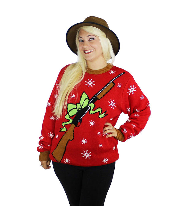 Xmas Rebellin' Rifle Ugly Christmas Sweater- FunQi