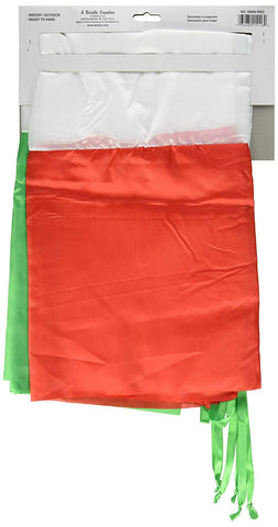 Beistle Company - Red, White and Green Fabric Bunting