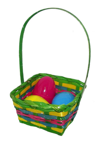 "10"" Springtime Easter Mini Woven Basket Assortment-Includes 1; styles vary"