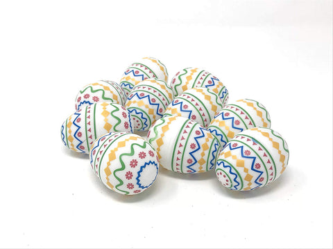 Easter Eggs, Assembled Eggs, 48 count (white printed)