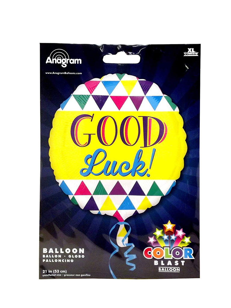 21inch Good Luck Triangles Foil Balloon