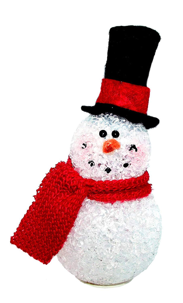 Snowman Ornament - Gerson Internatinoal 5 inch Light Up Top Hat Snowman Ornament