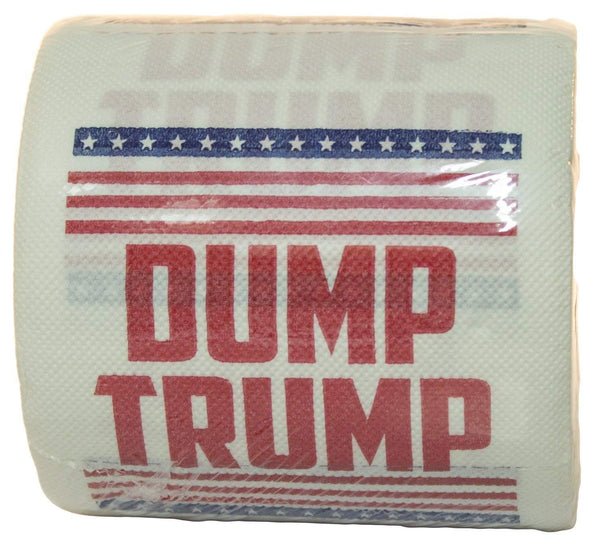 Dump Trump Novelty Toilet Paper, 1 Roll