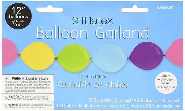 10 Assorted Colors Balloon Garland