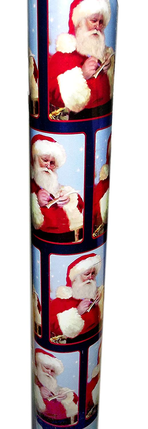 100-Square Feet Foil Gift Wrap Roll (Santa Claus)