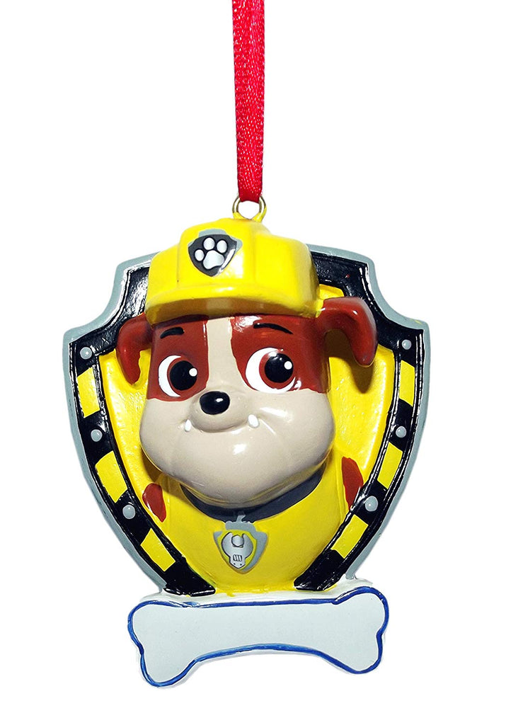 Paw Patrol 3.5-Inch Personalizable Ornament (Yellow (Rubble))
