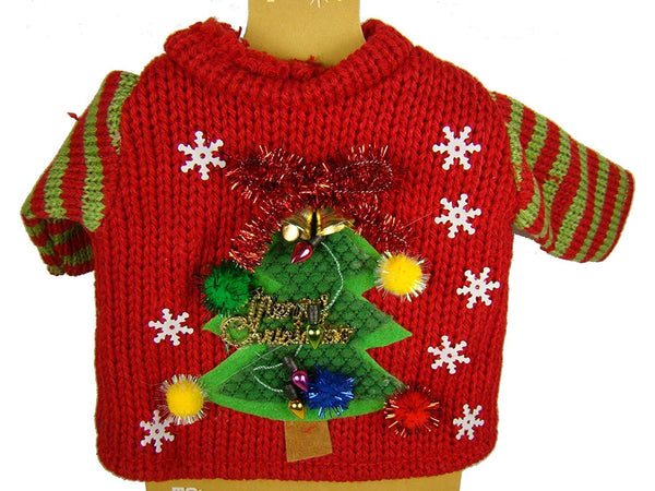 Silvesti Red Tree Ugly Sweater Bottle Cover by Demdaco