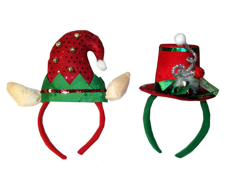 Christmas Holiday Headbands Assorted 1 Count