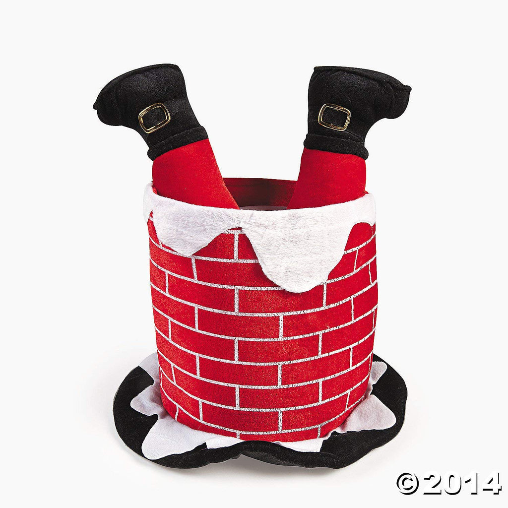 CHIMNEY HAT WITH SANTAS LEGS