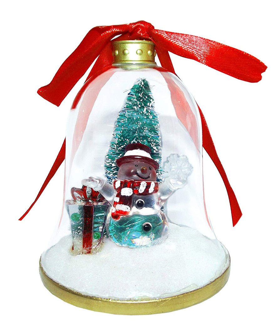 Christmas Ornament - Gerson international Snowman in a Bell Ornament