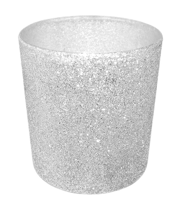 Glittered LED Candle 2.25 x 2 Inches (Silver)
