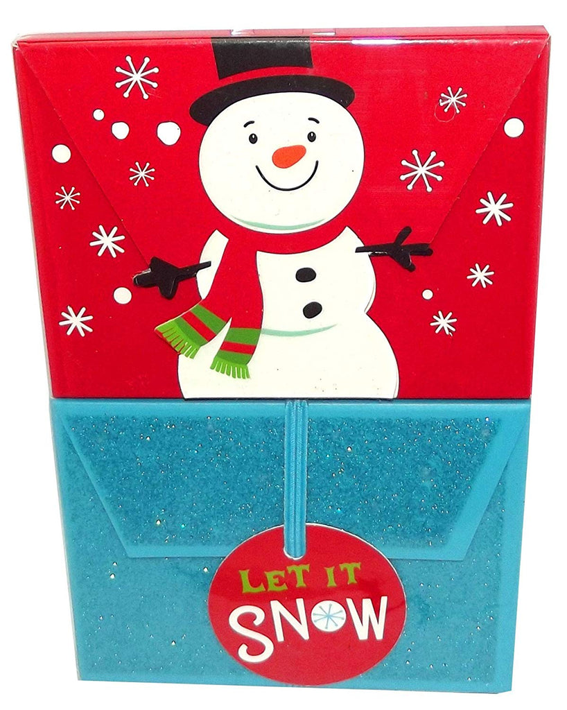 Let it Snow Snowman Gift Card Holder, 2 count