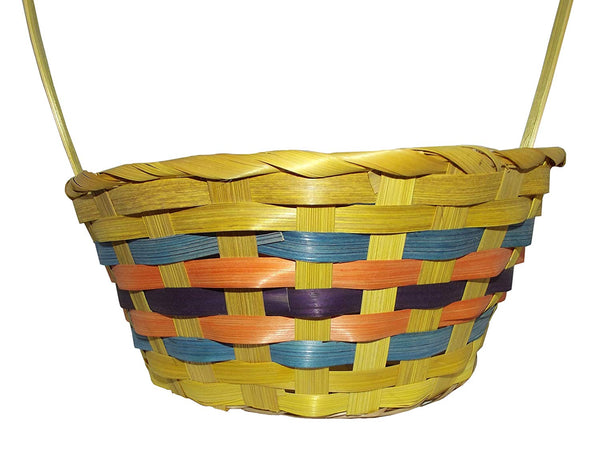 "Easter Round Bamboo Basket Assortment-Includes 1; styles vary 15.5"" x 9"" x 4.25"""
