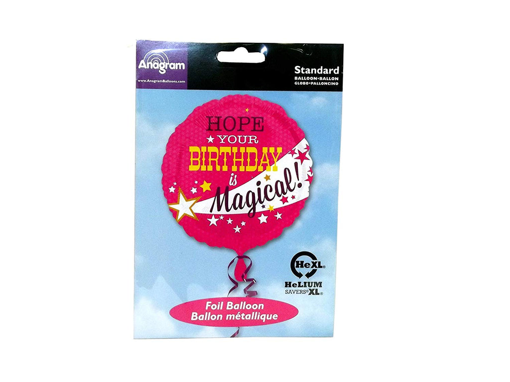 Anagram Hope Your Birthday is Magical 17inch Balloon Pink