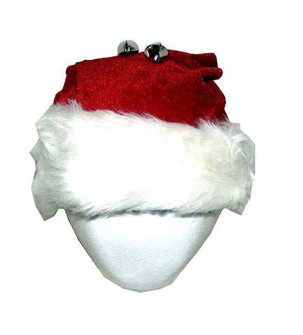 Forum Novelties Velour Santa Hat with Bells, One Size