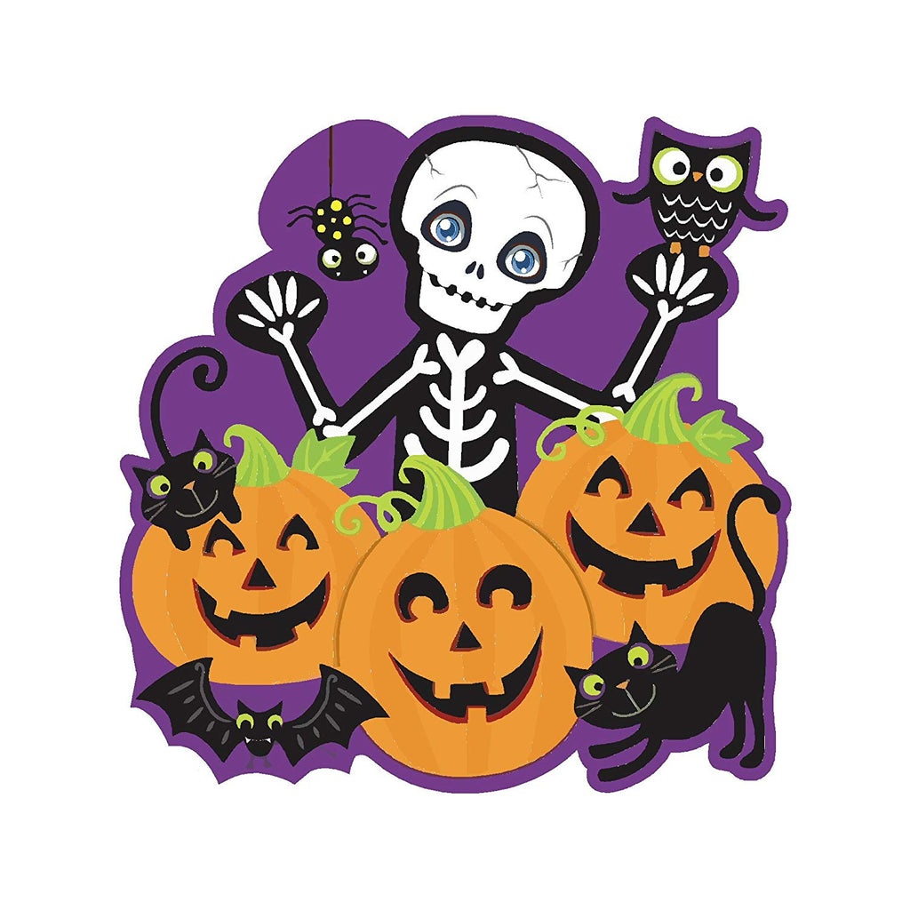 Aahs Engravings Cute Spooky Skelton Pumpkin Patch Yard Sign