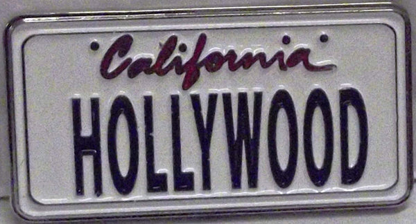California Hollywood License Plate Magnet
