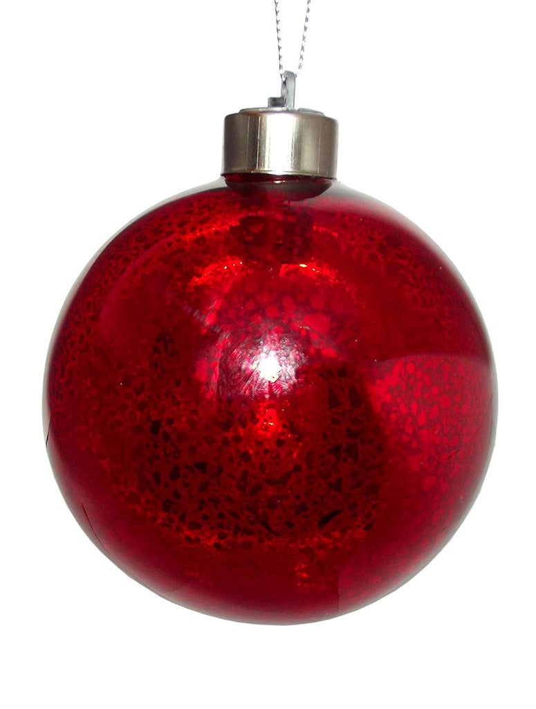 GANZ Light Up Metallic Colored Christmas Ornament Red