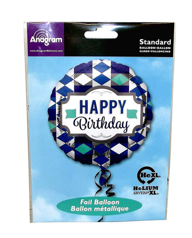 Anagram Round Foil Party Balloon, 17 inches, 1 count