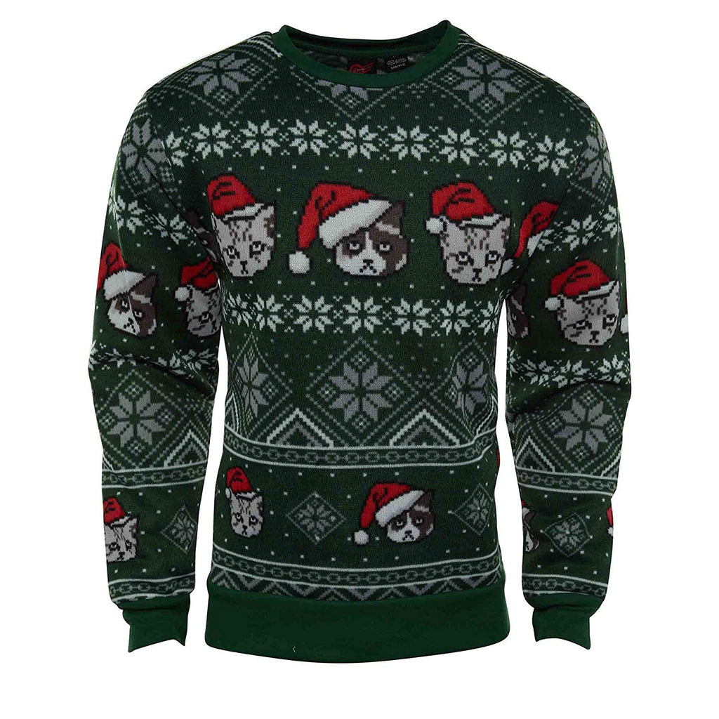 Mad Engine Holiday CATZ Adult Ugly Christmas Sweater