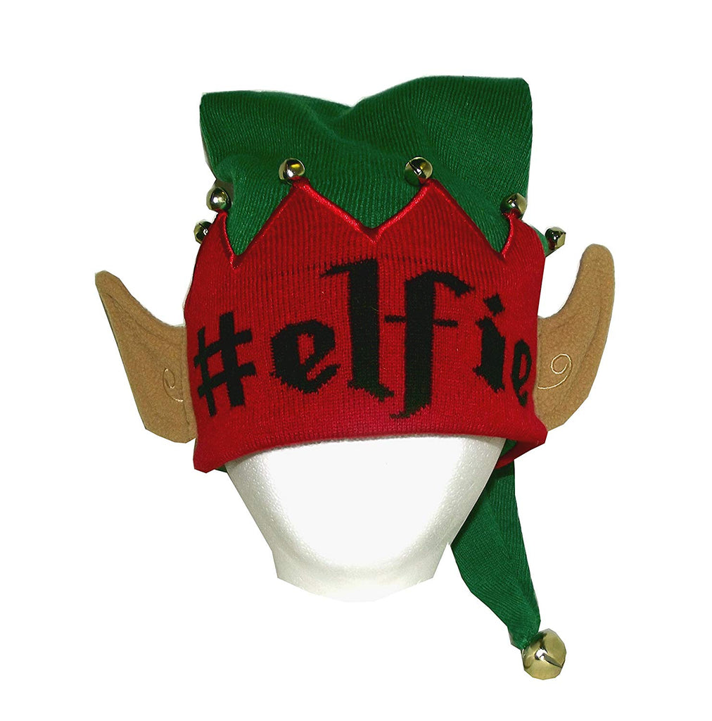 Bio World Merch Ugly Stuff#Elfie Christmas Elf Knitted Costume Beanie, One Size