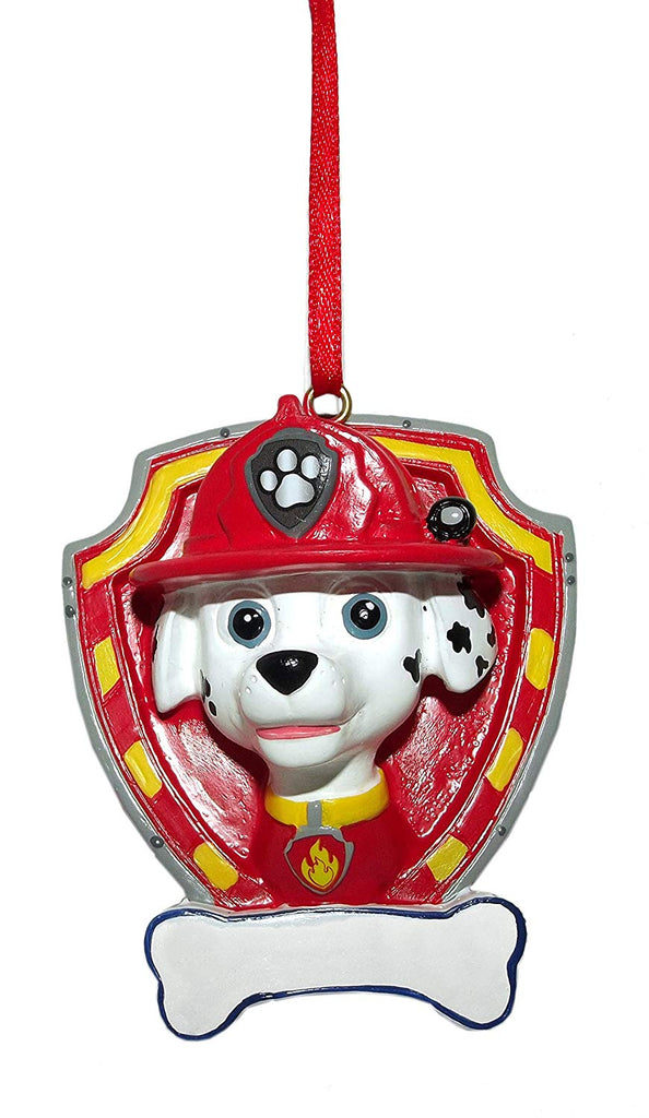 Paw Patrol 3.5-Inch Personalizable Ornament (Red (Marshall))