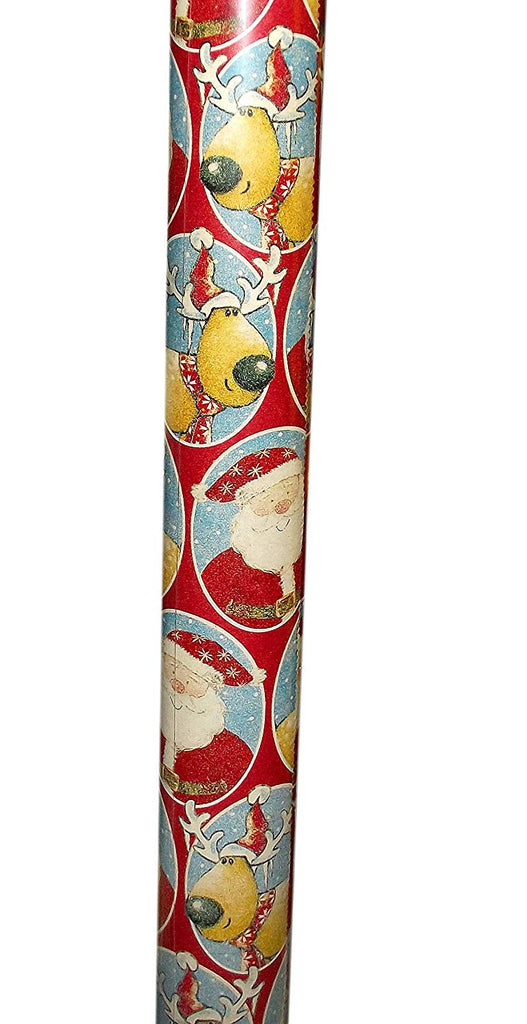 Scotch Kraft Paper Christmas Gift Wrap Roll (Red with Santa and Reindeer)