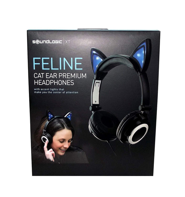 SoundLogic Feline Premium Cat Ear Headphones