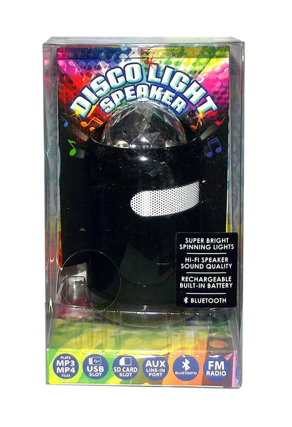 Disco Light Bluetooth Speaker, Black