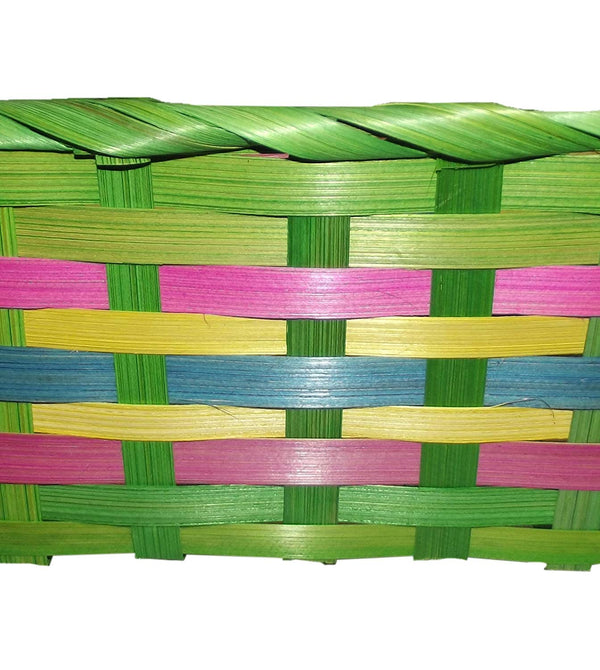 "Easter Square Bamboo Basket Assortment-Includes 1; styles vary 15.25"" x 9.5"" x 4.5"""