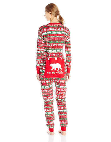 Little Blue House by Hatley Women's Beary X-Mas Family Union Suits