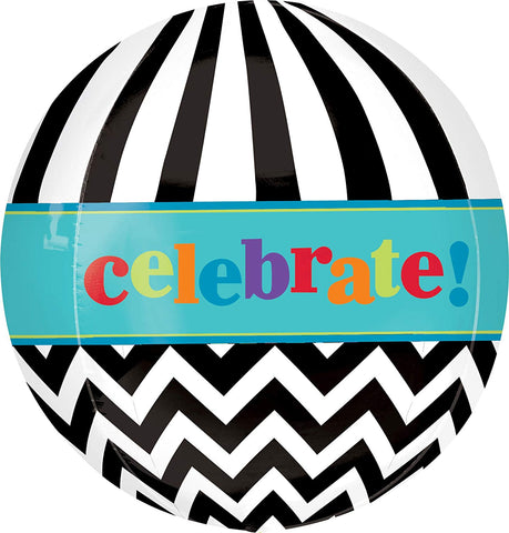 "Anagram International Dancing Lines Birthday Orbz Balloon Pack, 16"", Multicolor"