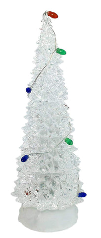 Christmas Decoration - Gerson International 10 inch LED White Tree