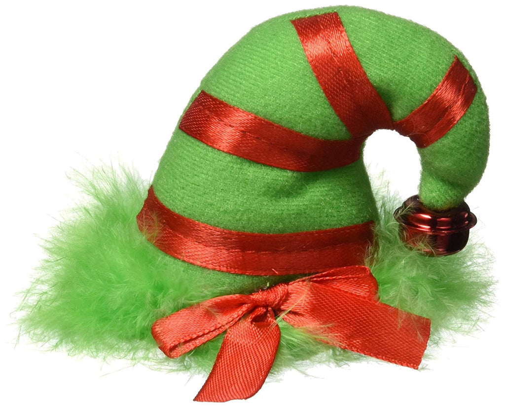 "Amscan Fun-Filled Christmas & Holiday Party Mini Elf Hair Clip , Red/Green, Fabric , 3 1/4"" X 2 1/2"", Pack of 1 Costume"