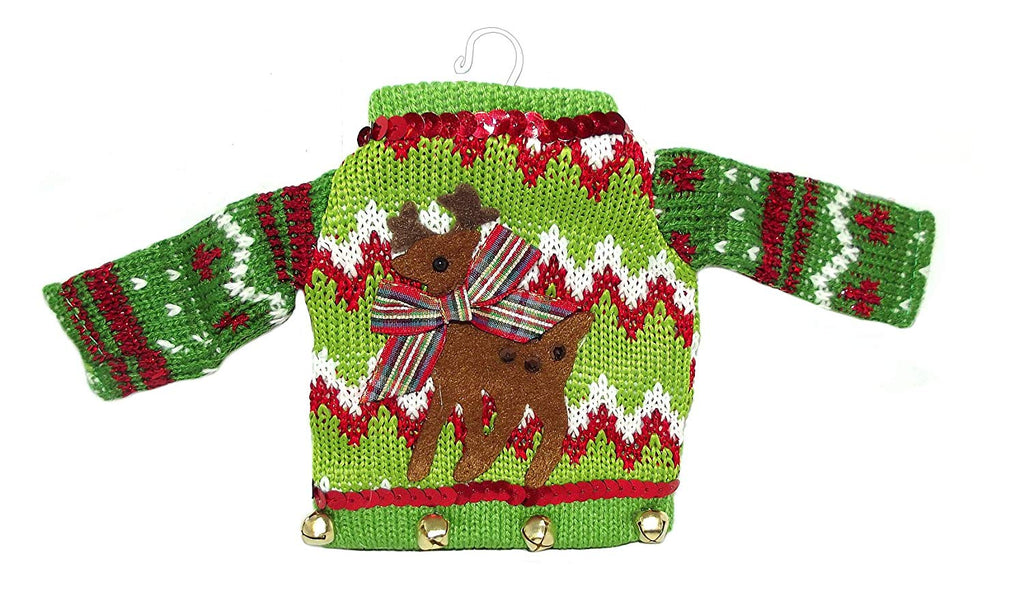 Tacky Christmas Sweater Ornaments (Reindeer)