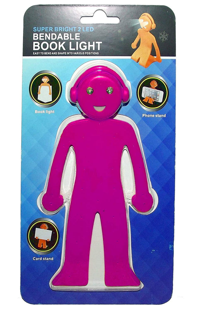 Bendable Book Light - Big Smile (Pink)